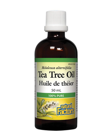 Tea tree oil is amongst the best natural antimicrobial and antiseptic agents available, ideal for relieving minor skin ailments and abrasions. Natural Factors Tea Tree Oil contains high levels of terpinen-4-ol, the main bactericidal compound. It is 100% pure, and is safely and gently obtained through steam distillation.