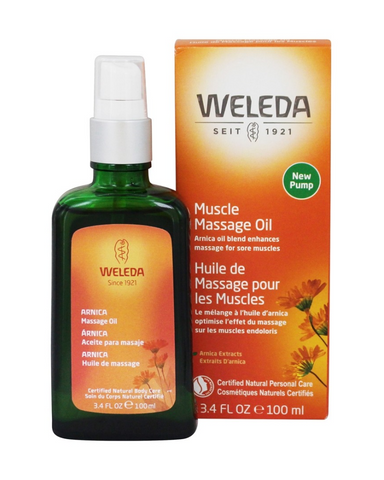 One of Weleda's signature products, Arnica Massage Oil is the essence of nourishing plant-rich effective action. Plant oils from sunflower and olive are blended with extracts from arnica flowers and birch leaves to help skin feel smoother and help improve the feel of elasticity and firmness.