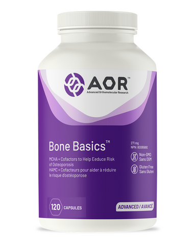 Bone Basics is more than just a calcium supplement, it is a complete bone-building formulation that includes nutrients fundamental for maintaining mineral balance in the bone matrix and for supporting healthy joints. Bone Basics is unique because it serves not only to reduce bone loss but to maintain or even increase bone growth.