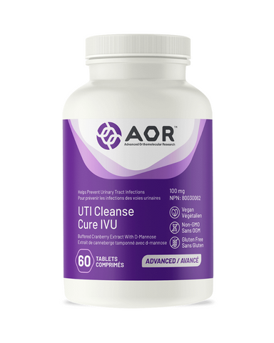 AOR UTI Cleanse Now with Cranberry Tablets can be used in herbal medicine to help prevent urinary tract infections (UTIs).