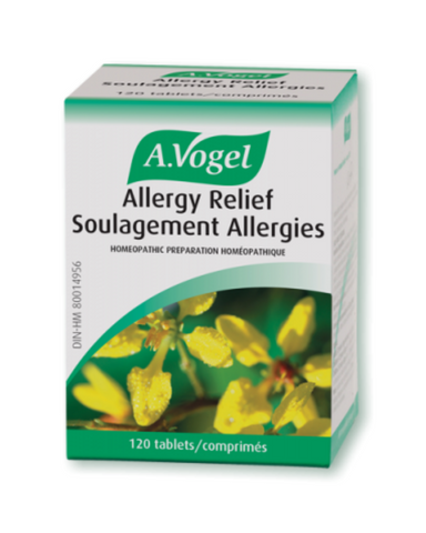 A.Vogel Allergy Relief  Tablets - Helps with Sneezing, Itchy nose, Scratching throat, Burning eyes and lacrimation
