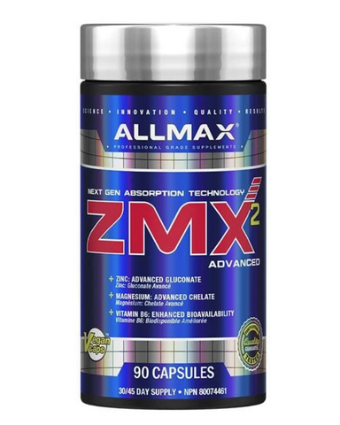 ALLMAX has achieved maximum absorption levels with Next Generation ingredients like P5P (Vitamin B6 in the advanced Pyridoxal-5-Phosphate form) delivering 550%, and ionically-bound Zinc Gluconate at 200%.*