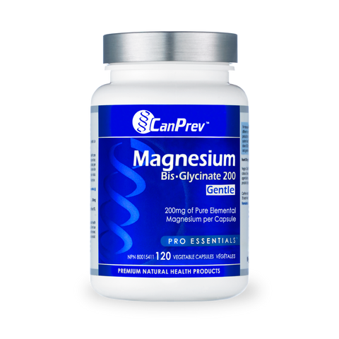 Can Prev Magnesium Bis-Glycinate 200 Gentle - 120 Vegetable Capsules