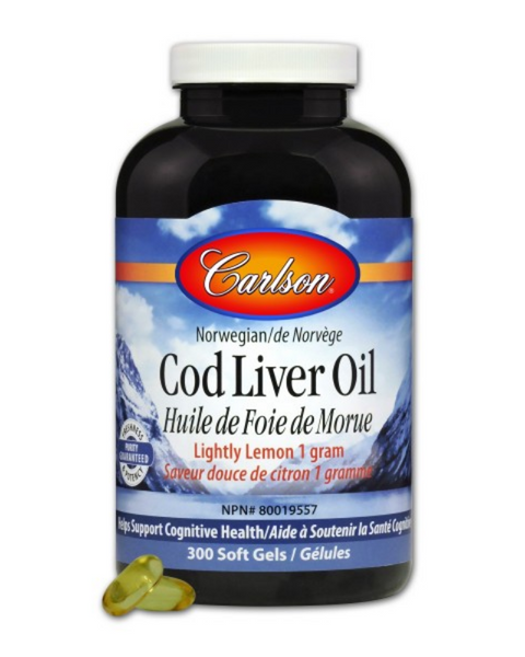 Carlson Norwegian Cod Liver Oil - Lightly Lemon - is from the deep, unpolluted waters near Norway, and provides the finest cod liver oil, naturally rich in EPA and DHA. Natural vitamin E (10 IU) has been added to each 1000 mg soft gel to protect the freshness of EPA and DHA, both within the soft gels and our bodies.