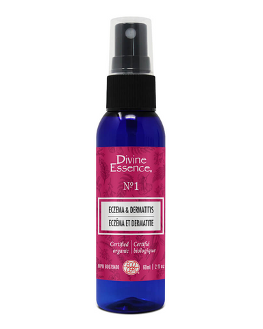 Divine Essence Eczema & Dermatitis Spray Relieves itching due to dry skin caused by eczema or dermatitis with this synergy of Carrot beauty oil and essential oils of Italian Helichrysum, Petitgrain - Bitter Orange and Aspic Lavender. Specially designed for atopic, dry and sensitive skin.  Used in aromatherapy for the symptomatic relief of eczema and dermatitis.