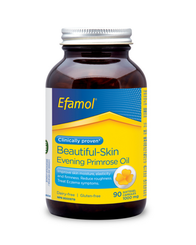 For beautiful skin with that healthy glow, try Efamol® Pure Evening Primrose Oil. It not only contributes to soft, smooth, velvety skin, but it's also clinically proven to relieve symptoms of atopic eczema, including redness, itchiness and swelling. These softgel capsules provide Gamma-linolenic acid or GLA, a biologically active form of omega-6 fatty acids,  along with vitamin E, an antioxidant for the maintenance of good health.