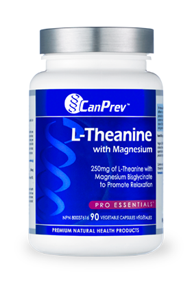 CanPrev - L-Theanine with Magnesium - 90 Vegetable Capsules -Promotes a restful, relaxed state without diminishing alertness. A product that soothes an anxious mind and at the same time helps you stay focused and productive.
