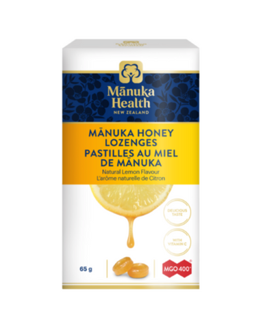 Manuka Health Manuka Honey Lozenges with Natural Lemon Flavour.