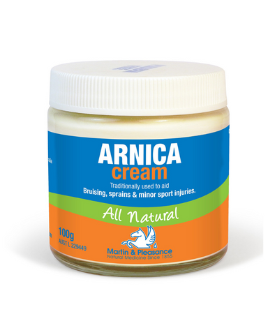 This Martin & Pleasance Arnica Cream is traditionally used to aid bruising, sprains, and minor sports injuries.