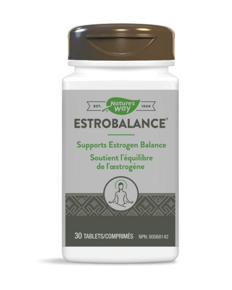 Nature's Way Estrobalance helps to support/promote healthy estrogen metabolism/balance, helps to reduce severity and duration of symptoms of cyclic mastalgia (recurrent breast pain) in premenopausal women.