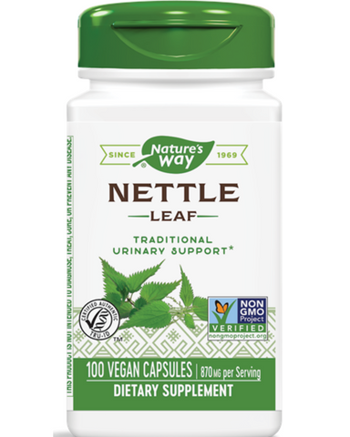 "Nettle is a source of chlorophyll in whole herb form. It is extensively used as a folk medicine. Nettle herb is harvested from the wild, gently dried and ground to a usable form.  Nettle leaf has uses dating all the way back to ancient Greece. Its Latin name translates to ""I burn, "" referencing the sharp hairs on the leaves.  Today, Nature's Way sources Nettle in climates where it grows best, like Eastern Europe, so we can bring the highest quality botanicals to you."