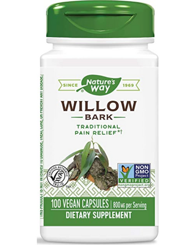 White Willow extract is standardized to 15% salicin.  Salicin is a natural compound with some structural similarity to acetylsalicylic acid but with more gentle release in the body. It is extracted from the inner bark of the tree. It can be used to reduce inflammation and generalized pains such as headaches, toothaches and musculoskeletal pain.