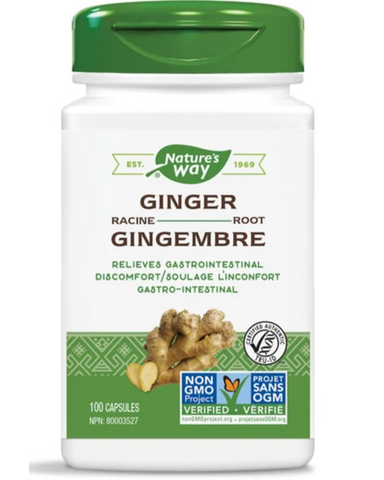 Nature's Way Ginger Root is traditionally used in Herbal Medicine to help relieve digestive upset including lack of appetite, nausea, digestive spasms, indigestion, dyspepsia, and flatulent colic (carminative). Nature's Way Ginger Root is Vegetarian, TRU-ID certified and non-GMO Project verified.