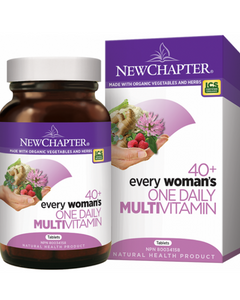 New Chapter 40+ Every Woman's One Daily Multivitamin delivers 23 fermented vitamins and minerals including B Vitamins, Selenium, and Vitamin D3. This targeted multi-vitamin also provides medicinal herbs for women such as organic Broccoli, Raspberry, and Red Clover.