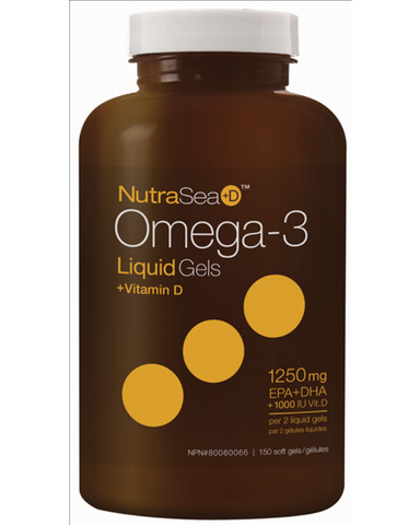 If you're looking for a balanced omega-3 supplement combined with the benefits of 1000IU of vitamin D, try NutraSea+D. In addition to the maintenance of overall good health, cardiovascular health, and brain function, the added boost of vitamin-D promotes healthy bones and teeth. It's also beneficial for the development of the brain, eyes, and nerves in children and adolescents.