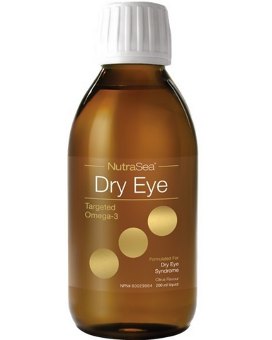 NutraSea Dry Eye is a targeted omega-3 formulated for dry eye syndrome. Providing 1200 mg of EPA, 300 mg of DHA, and 150 mg of GLA to help relieve the symptoms of dry eye syndrome. Just one teaspoon a day in a delicious citrus flavour.