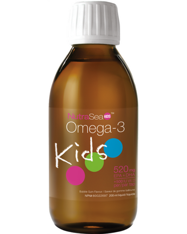 NutraSea Kids is specially formulated with EPA, DHA, GLA and Vitamin D in a yummy taste that kids love! NutraSea Kids is beneficial in the development of the brain, eyes and nerves in children and adolescents. It's also beneficial in the development and maintenance of healthy bones and teeth.