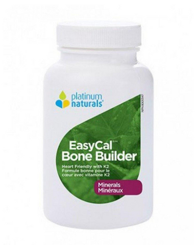 Platinum Naturals EasyCal Bone Builder is a heart friendly, easy to absorb bone-building product specifically formulated to deliver calcium and complementary nutrients to the bones. It contains a synergistic blend of vitamins, minerals and evening primrose.