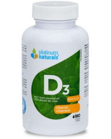 Platinum Naturals Vitamin D3 is a natural vitamin D3 that is suspended in medium chain triglycerides from coconut. Made with Omega Suspension Technology: for better absorption and results you can feel.