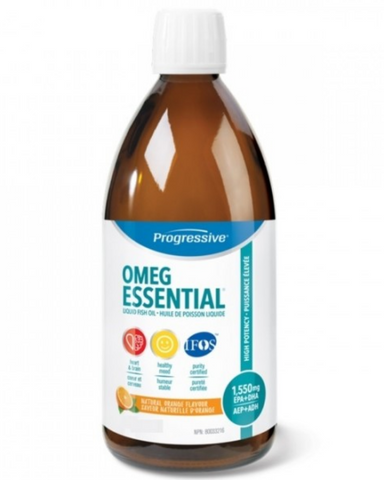 OmegEssential High Potency Fish Oil is a foundational supplement designed to be taken on a daily ongoing basis. It has a long list of benefits including enhancing mental acuity and brain function, and is ideal for the maintenance of good health.   Each serving provides 1,000mg of EPA and 550mg of DHA in a balanced 2:1 ratio. It also includes a family of support nutrients designed to naturally enhance your body's ability to process and utilize the essential fatty acids
