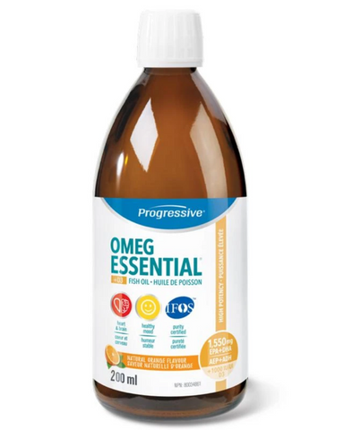 OmegEssential® High Potency Fish Oil is a foundational supplement designed to be taken on a daily ongoing basis. It has a long list of benefits including enhancing mental acuity and brain function, and is ideal for the maintenance of good health.  Each serving provides 1,000mg of EPA and 550mg of DHA in a balanced 2:1 ratio, along with 1,000 IU of vitamin D. It also includes a family of support nutrients designed to naturally enhance your body's ability to process and utilize the essential fatty acids.