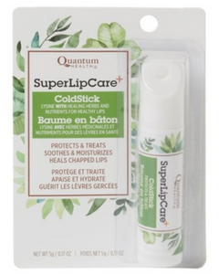 Quantum Health Super LipCare+ ColdStick has lysine and healing herbs and nutrients for healthy lips.