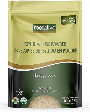 Rootalive Organic Pysllium Husk Powder is an excellent way to introduce more fibre into your diet due to its high fibre count in comparison to other grains. Psyllium husk is commonly used to help improve digestion and treat constipation or diarrhea. It is often the main ingredient in high fibre cereals, dietary fibre supplements and over-the-counter laxatives.