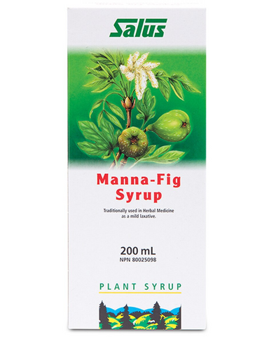 This syrup is a herbal product made of real, natural manna and an aqueous extract from dried figs. It may help to prevent slugghishness of the bowels and constipation. Manna contains a high percentage of mannitol sugar alcohol which binds water and therefore can make the stool softer.