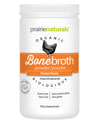Prairie Naturals is introducing 100% Organic Bone Broth Protein, available in both chicken and beef. The bones used in making our 100% Organic Beef/Chicken Bone Broth Protein are from grass-fed, grass finished cattle and free-range chickens.