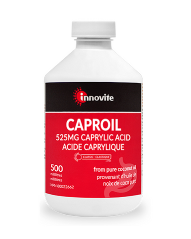 Traditionally used in Herbal Medicine to help relieve inflammatory conditions of the digestive system.  Caproil liquid offers a potent 525mg of non-GMO caprylic acid, per teaspoon.  It is a critical component of your anti-fungal program, so your digestive environment can flourish.