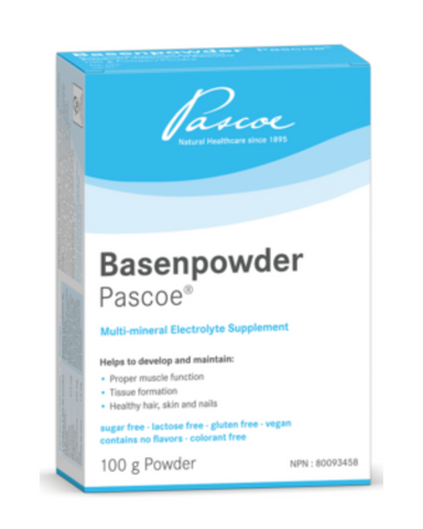 Basenpowder Pascoe is a multi-mineral electrolyte powder supplement. The electrolyte powder and mineral supplement replenishes the body to support vital physical processes.