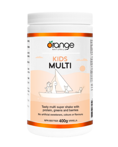Kids Multi is a tasty super shake made specially for kids. It combines a daily multivitamin-mineral with just the right amount of plant protein, greens and superfruits.