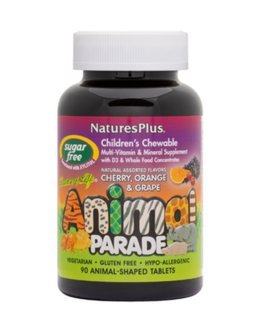 For more than 20 years, the name Animal Parade® has stood for the ultimate in childrens nutritional supplements, with cutting-edge natural nutrition and the award-winning, delicious flavors and varieties that kids love! Now, for parents who wish to limit their childrens intake of sugar, NaturesPlus is proud to offer a new choice: Animal Parade SUGAR FREE, sweetened with tooth-friendly xylitol!