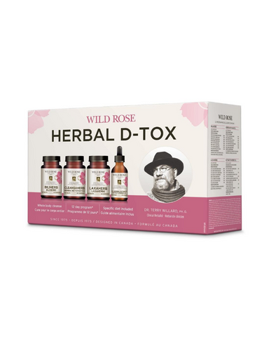 To help maintain a healthy balance of assimilation and elimination, the Wild Rose Herbal D-Tox Program is uniquely designed to enhance all aspects of metabolism. Wild Rose Bliherb formula gently promotes bile production by the liver, supporting digestion and enhancing the elimination of toxins. Laxaherb, Cleansaherb and CL Herbal Extract additionally support the cleansing and elimination of wastes from the system.