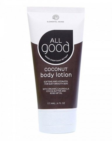 All Good Body Lotion repairs your dry skin for a youthful, non- greasy feel with rejuvenating organic botanical ingredients. We've taken care to produce the most soothing organic lotion possible with nature's safest and most potent organic ingredients and medicinal plants. Don't forget to drink water for overall hydration and feed that big beautiful organ all the best, all good stuff.
