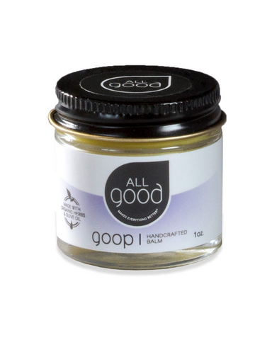 Our first product ever to hit store shelves, we named this healing balm All Good Goop when we realized how amazing it is for everything! Its organic skincare formula mixes essential oils with medicinal plants to make it strong enough for a climber's raw knuckles and gentle enough for a baby's bottom. Plus, this healing balm is great for:  Cuts, Scrapes, Abrasions Minor Burns, Sunburn Insect Bites, Stings, Dry and Irritated Skin Chapped Lips Diaper Rash Blisters Cracked or Calloused Hands Scars... and much m