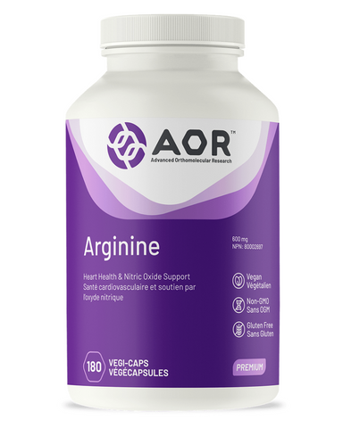 Arginine is an amino acid with many important health benefits, but is best known for its key role in the production of nitric oxide, a potent factor in relaxing blood vessels and promoting blood flow. By increasing nitric oxide levels, Arginine has the ability to prevent plaque and blood clot formation and reduce the stickiness of platelets. Clinical studies have found high doses of arginine beneficial for many cardiovascular conditions including high blood pressure, peripheral vascular disease and angina.