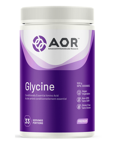 Glycine is the smallest and simplest of amino acids. It is the second most-used amino acid in the synthesis of proteins and enzymes in the body, and acts as an inhibitory and excitatory neurotransmitter in the brain and spinal cord.