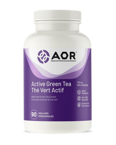 Green tea provides powerful antioxidants, promotes longevity, cardiovascular health, healthy weight management, healthy cellular growth & differentiation, liver health, and more. AOR™ Active Green Tea is a high-potency standardized extract of green tea, high in epigallocatechin gallate (EgCG), believed to be the key phytonutrient responsible for green tea's health benefits.