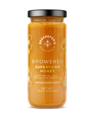 Hive powered complex. Royal jelly for clarity. Pollen for the body. Propolis for resilience. Honey for the soul.