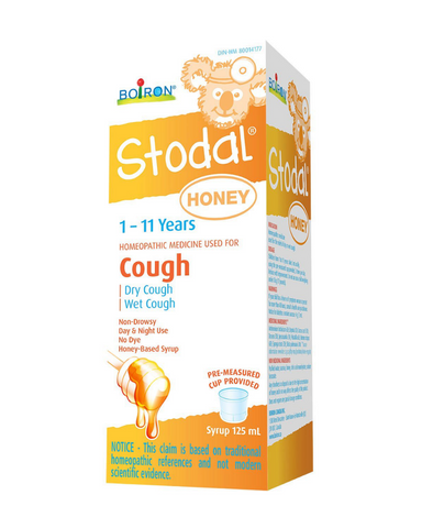 Boiron Stodal Children Honey is a homeopathic medicine used for the relief of dry or wet cough.