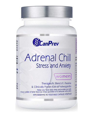 Say hello to Adrenal Chill. CanPrev's newest evidence-backed formulation is designed to increase your resistance to stress and anxiety.