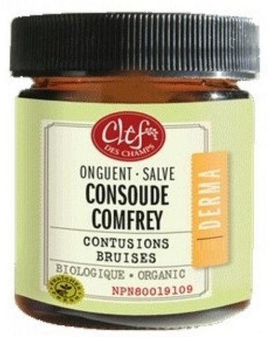 Clef des Champs Organic Comfrey Salve Ointment is Traditionally used in Western herbalism to heal sprains, bruises and fractures.