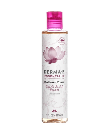 Derma-E Radiance Toner is alcohol-free, exfoliating beauty toner helps to tone and brighten for a soft, smooth and luminous appearance. Glycolic Acid helps to remove dead skin cells for younger-looking skin while an exceptional blend of botanicals including Rooibos and Rosehip extracts help to revive skin for a fresh, radiant complexion.