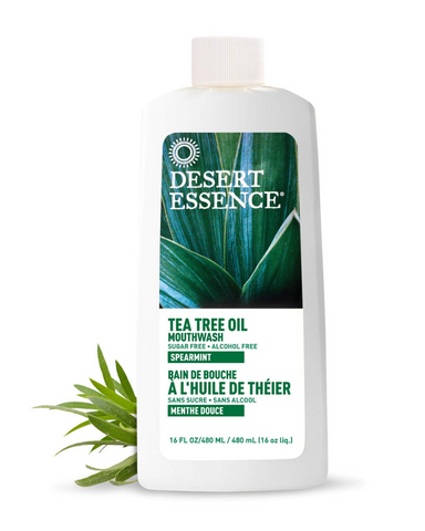 Flavoured with natural spearmint, this effective mouthwash features the inherent antiseptic properties of pure, Eco Harvest® Tea Tree Oil. Recommended by many dentists.