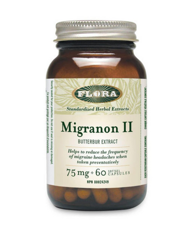 Approximately 11% of adults in Western countries are affected by headaches and Flora Migranon II offers a solution to reclaiming the quality of your life back. Each softgel capsule contains 75 mg of Petadolex butterbur root extract (36:1) equivalent to 2.7 g of butterbur root which is clinically-proven to reduce the frequency and intensity of migraines when taken preventatively.