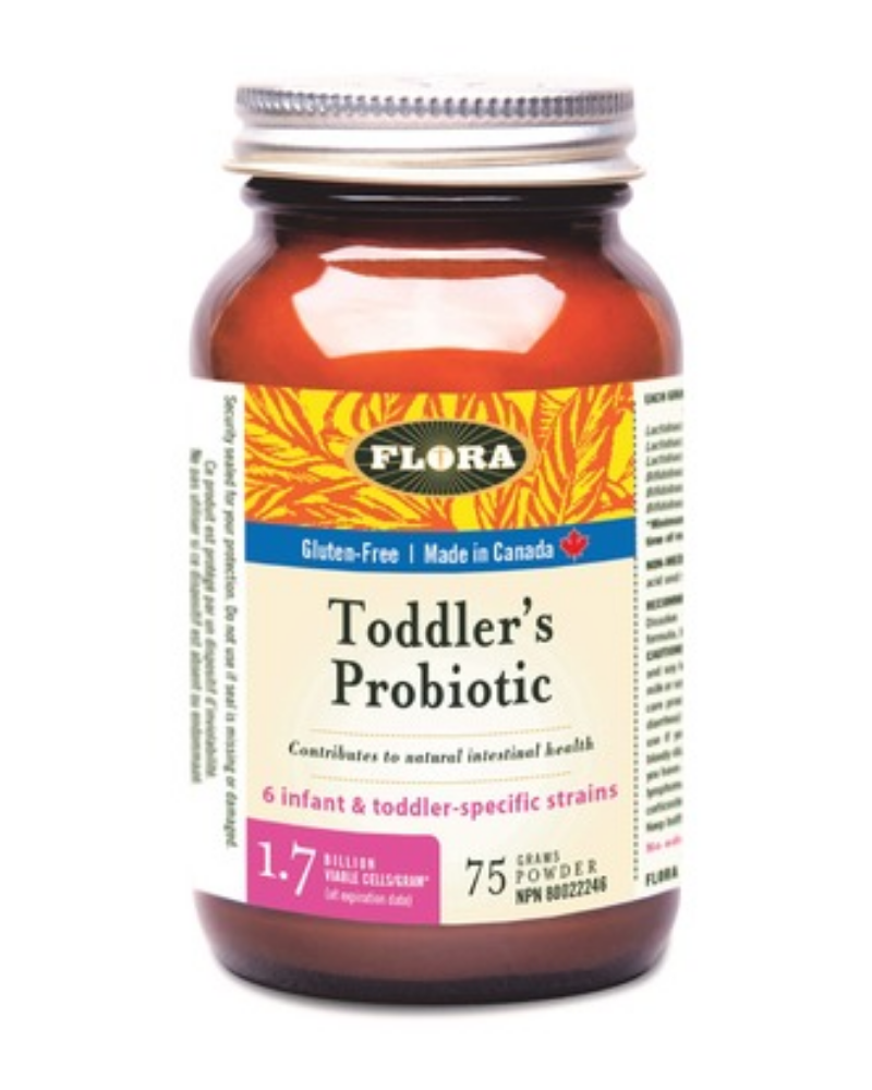 This concentrated powder can easily be added to a toddler's bottled formula or juice, smoothies and yogurt. It contains Bifidobacterium infantis, one of the most important microorganisms found in the large intestine of toddlers. This formula elevates low levels of B. infantis in gut microflora due to caesarian birth or lack of breastfeeding. Suitable for children over 12 months of age.
