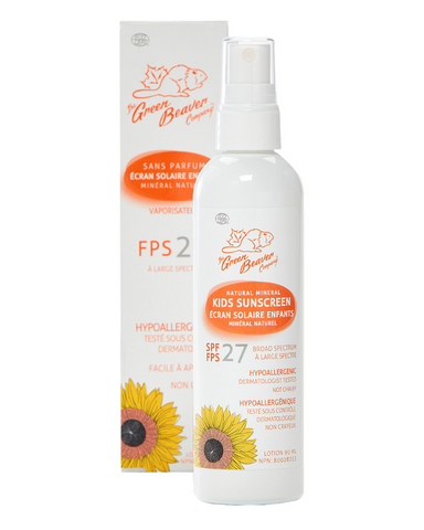 This hypoallergenic sunscreen is the perfect chemical-free solution to sun protection for children. Light and fragrance-free, this spray is gentle on the skin but fierce in its protection. With vegan, gluten-free and Organic Certified ingredients, it'll leave your little girl or boy with skin that is soft, safe, and healthy too. If swimming or sweating, please use with a water resistant sunscreen.