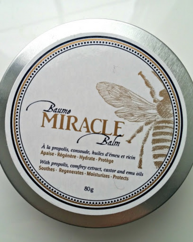 Bella Vita Miracle Balm is the only balm you will ever need. Made with ingredient like propolis, comfrey, and castor oil Miracle Balm can be used as an anti-inflammatory, antiseptic, anti-itching, moisturizer and much more. Miracle Balm is able to restore life to dried, cracked skin and give it back it's elasticity and strengthen dried broken or too soft nails. NOt only is it great for your hands Miracle Balm can be used on dry crack feet and protects the cheeks against frostbite in the cold winter months!