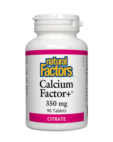 Natural Factors - Calcium Factor+ 350 mg - 90 Tablets